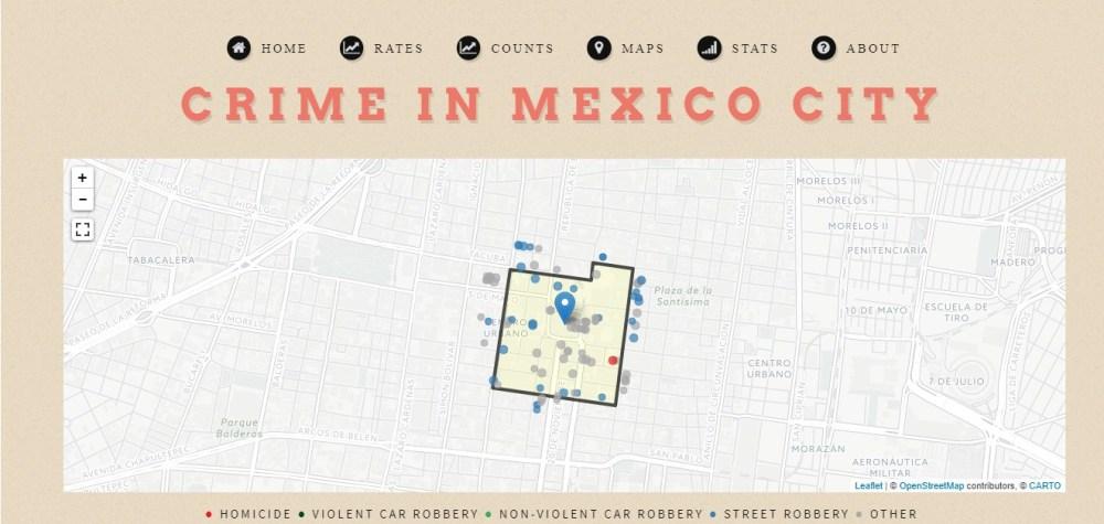 Mapa de crimen por tu rumbo con datos abiertos de incidencia delictiva