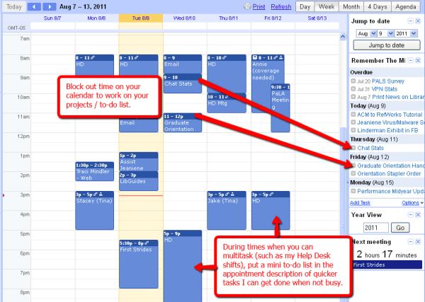 Calendar Tips