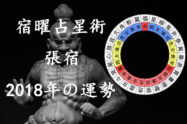2018年 張宿 運勢