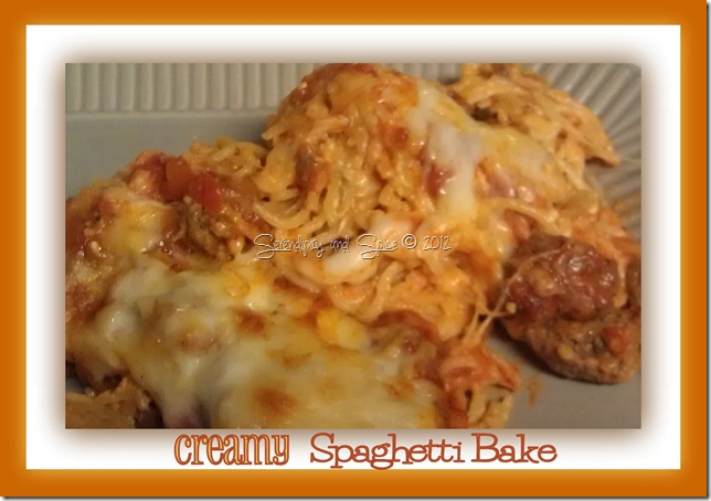 Easy Dinner: The BEST Creamy Spaghetti Bake EVER!