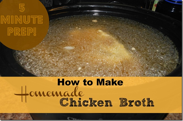 How to Make Homemade Chicken Broth with the Crock Pot