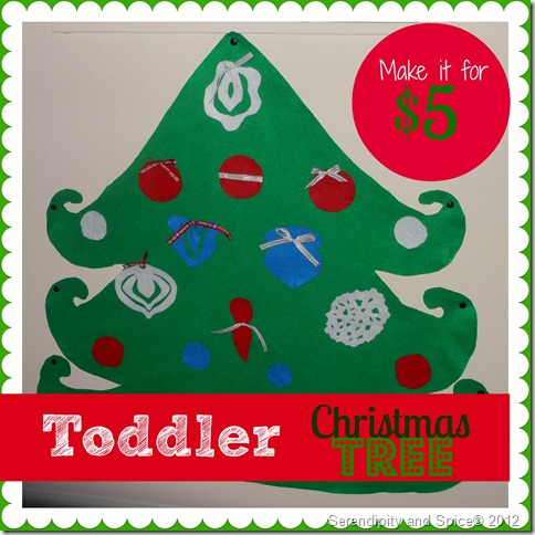 No Sew Toddler Christmas Tree
