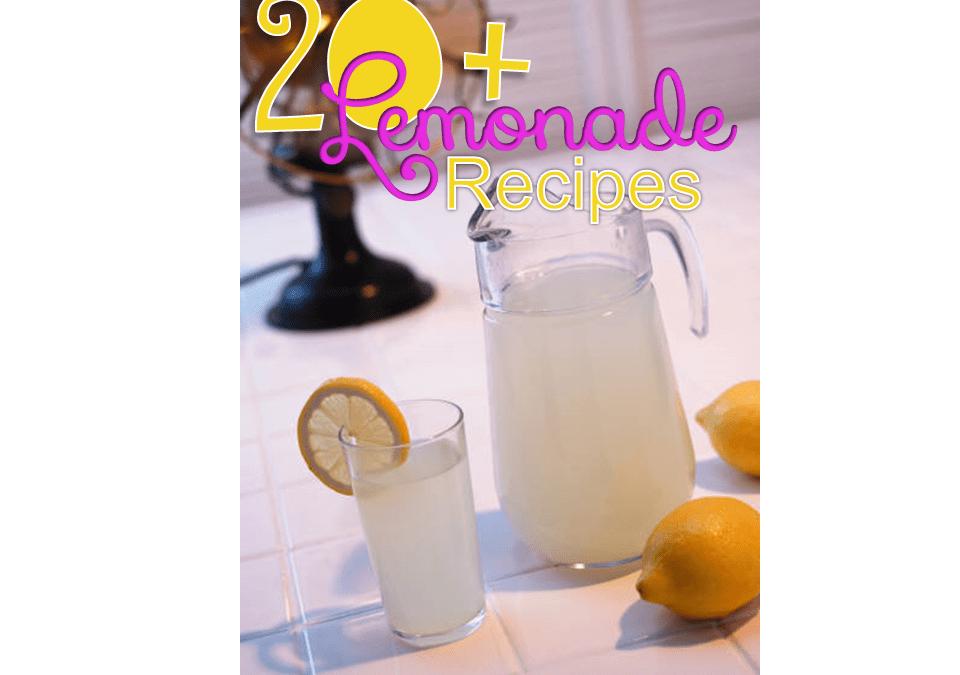20+ Unique Lemonade Recipes and Link Party