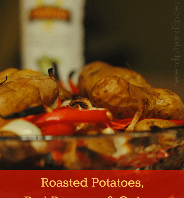 Roasted Potatoes, Onions, and Red Peppers