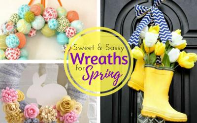 DIY Unique Spring Wreaths