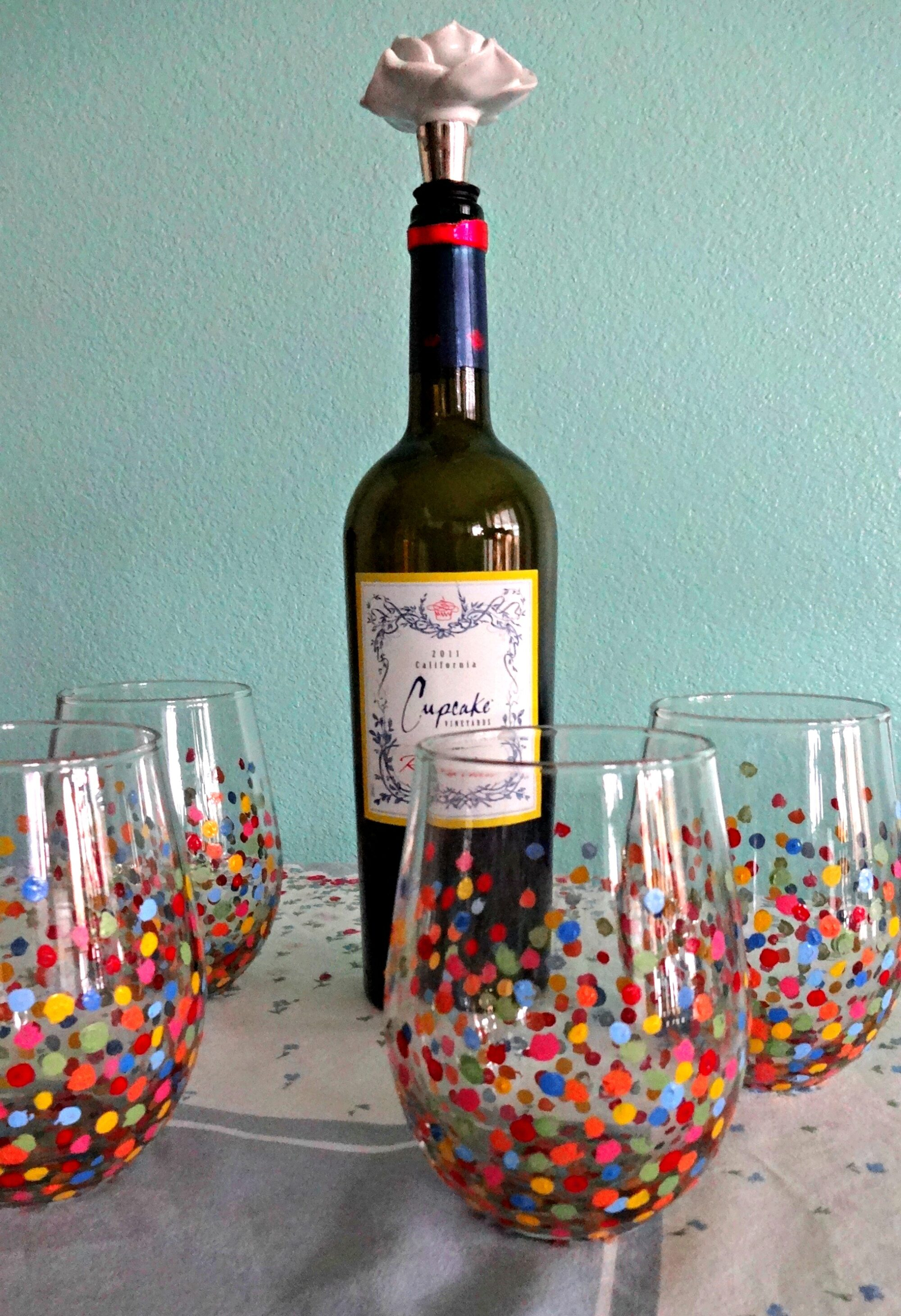 Very DIY Painted Wine Glasses • Serendipity by Sara Lynn PT62