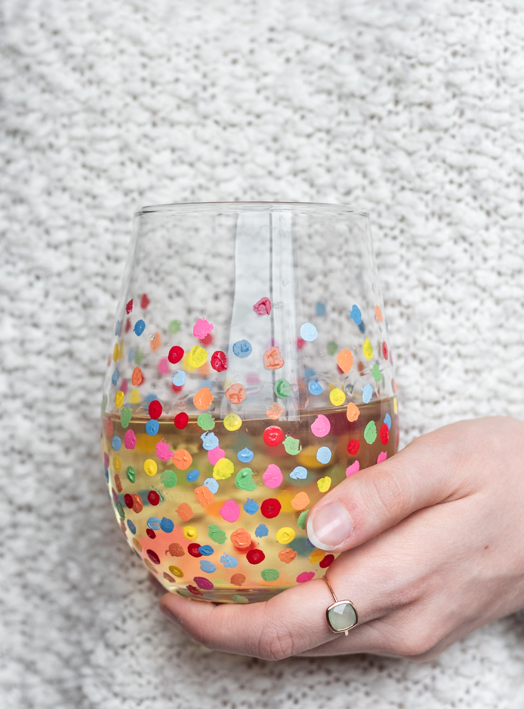 DIY Painted Wine Glasses | Serendipity by Sara Lynn