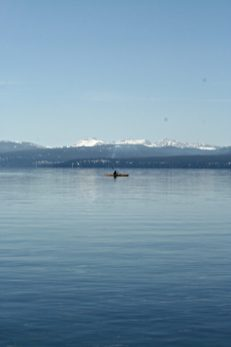 A lone kayaker.