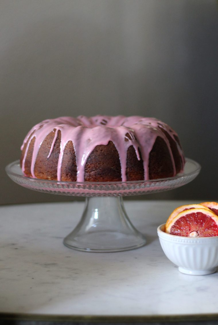 Black Sesame & Blood Orange Pound Cake