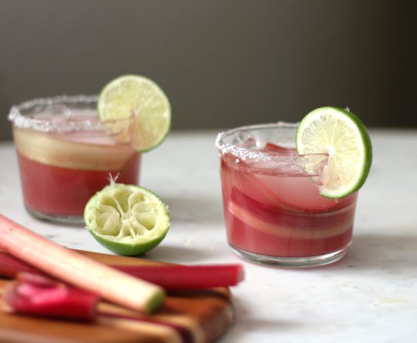 Rhubarb Watermelon Margaritas