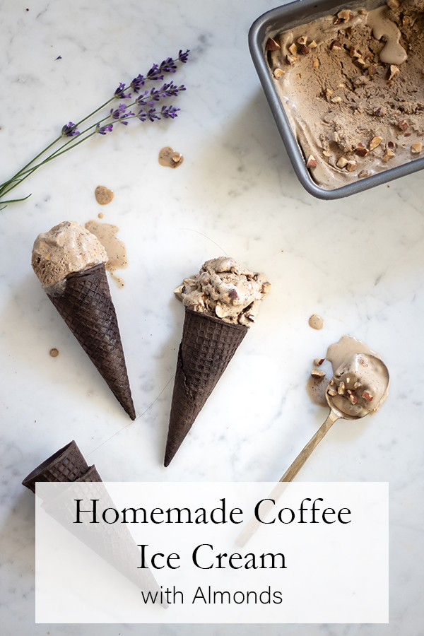 Coffee Ice Cream with Almonds