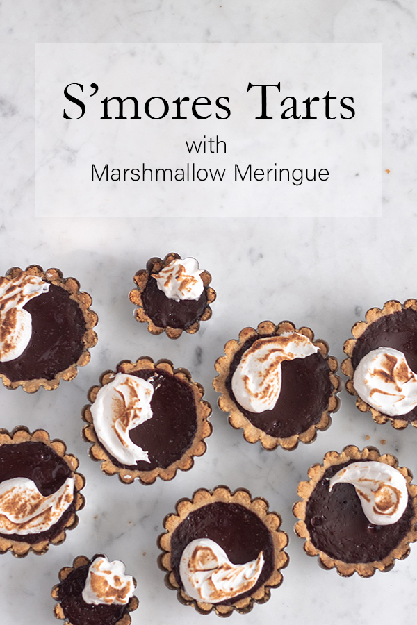S'mores Tarts with Marshmallow Meringue