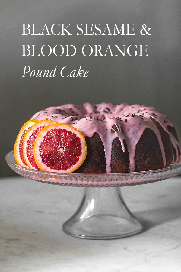 Black Sesame & Blood Orange Pound Cake | Serendipity by Sara Lynn