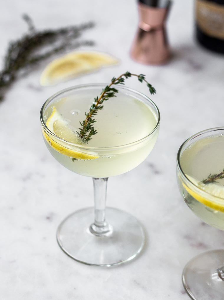 Thyme French 75 | Serendipity by Sara Lynn