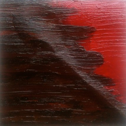 emerging — oil paint sticks and paint on paper — private collection