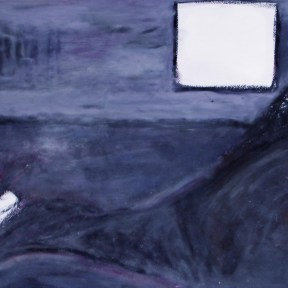 """I memorized your curves..."" — oil pastels on paper, framed — $225"