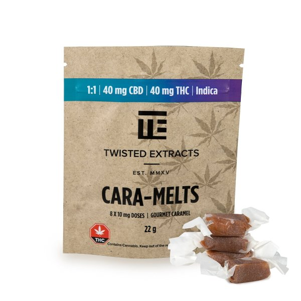Twisted 1:1 Indica/CBD Cara-Melts Serene Farms Online Dispensary