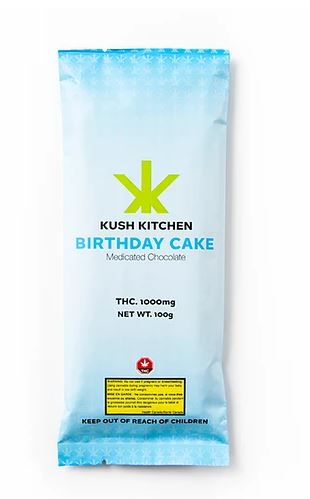 Kush Kitchen Birthday Cake Bar 1000mg THC