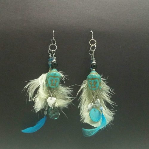 Buddha Feather Earrings