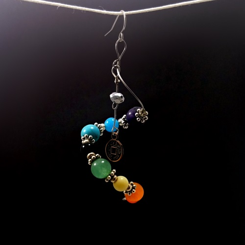 Spiral Chakra Earring