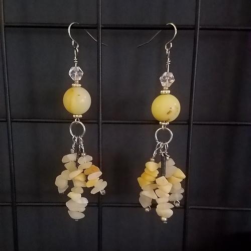 calcite dangle earrings
