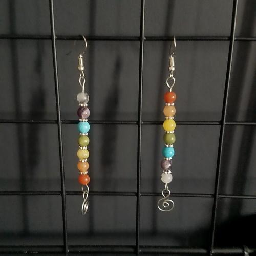 chakra healing earrings