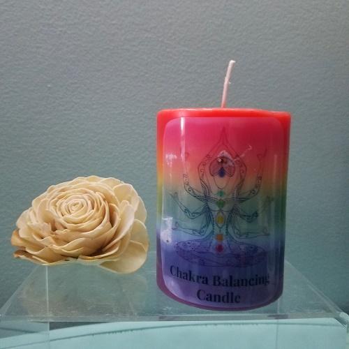 layered chakra candle