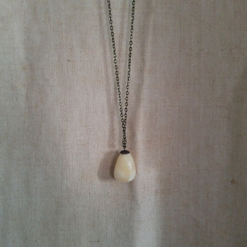 golden calcite necklace