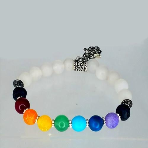 white quartz chakra bracelet