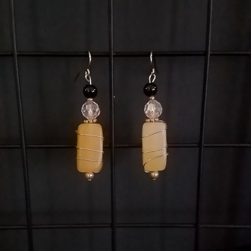 calcite wrapped earrings