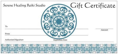 energy healing gift certificates serene healing reiki studio Jewett City CT