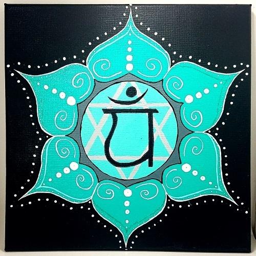 heart chakra symbol painting test