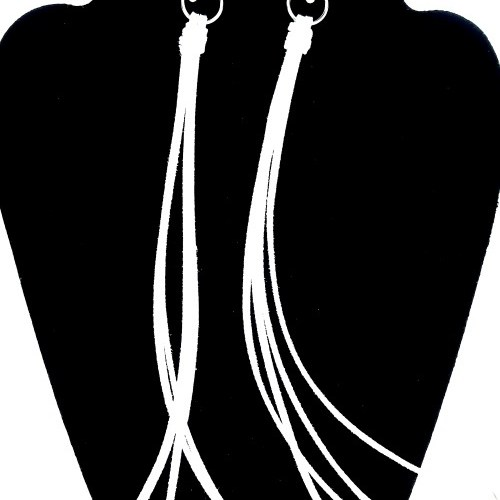 Long White Tassel Earrings