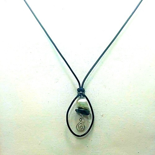 oval cairn necklace