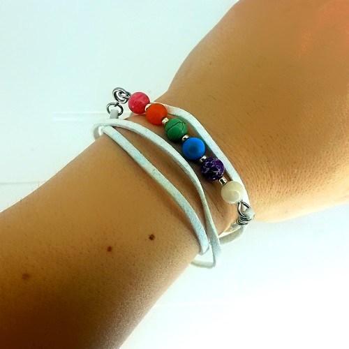 white chakra bracelet