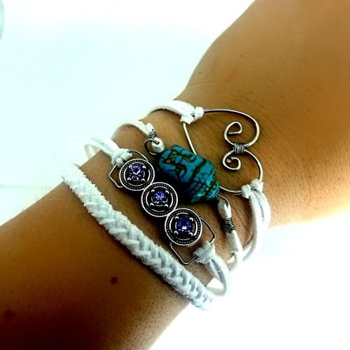 multi layer white bracelet