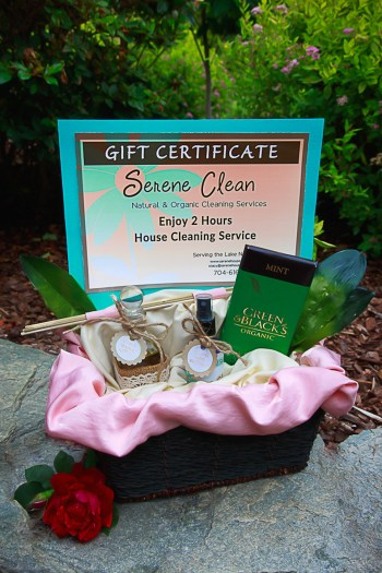 House Cleaning Gift Certificate Goody Basket