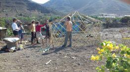Foldable yurt workshop