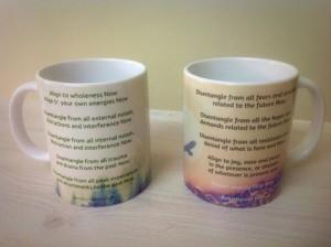 Tree and Eagle Meditative Mugs