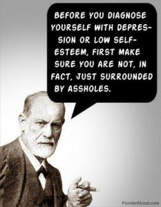 Freud surrounded by assholes