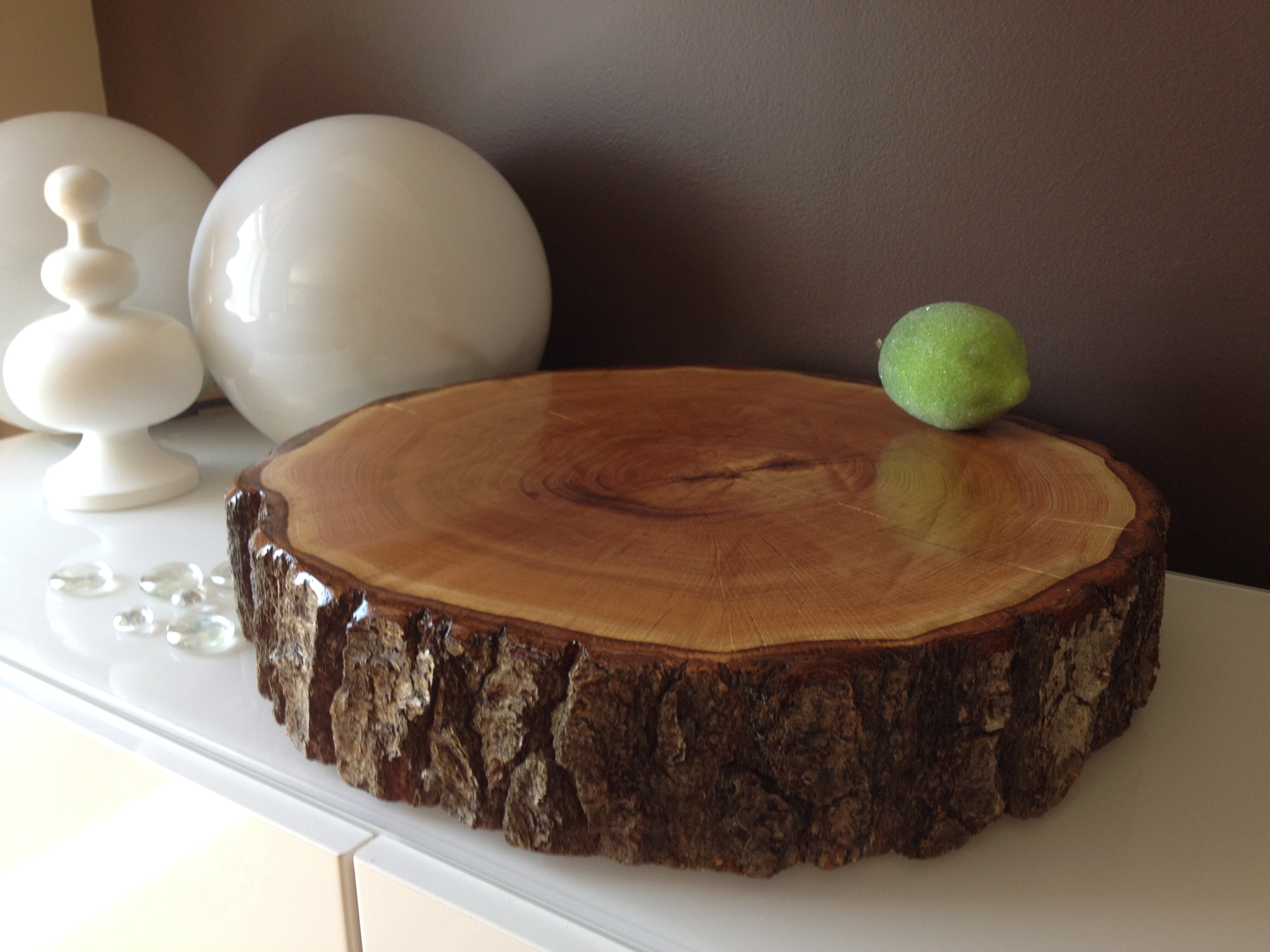 Wood Slice Wedding Cake Stands  Wood Rounds Stump Cake Stand Wedding Cake Stands   Cupcake Stands