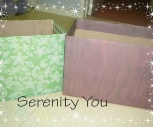 Scrapbook Paper Shoe Boxes