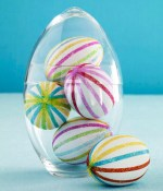 Glass Egg Filled with Easter Eggs
