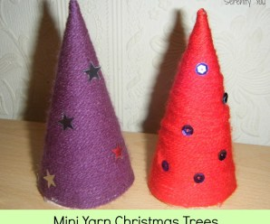 Mini Yarn Christmas Trees
