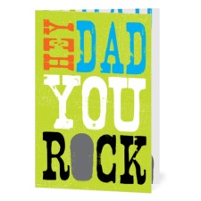Rockin' Dad :  Bright Green  Designed by  Hello Little One for Tiny Prints
