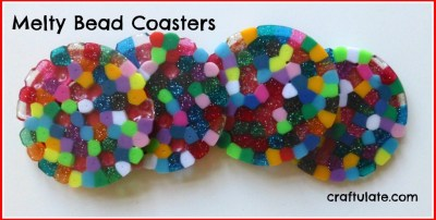 Craftulate: Melty Bead Coasters