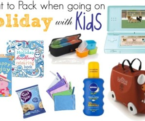 What to Pack When Going on Holiday with Kids