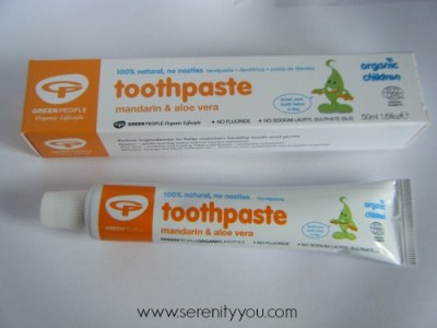 Big green smile mandarin toothpaste review