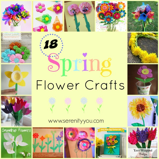 18 spring flower crafts to make and do - serenity you