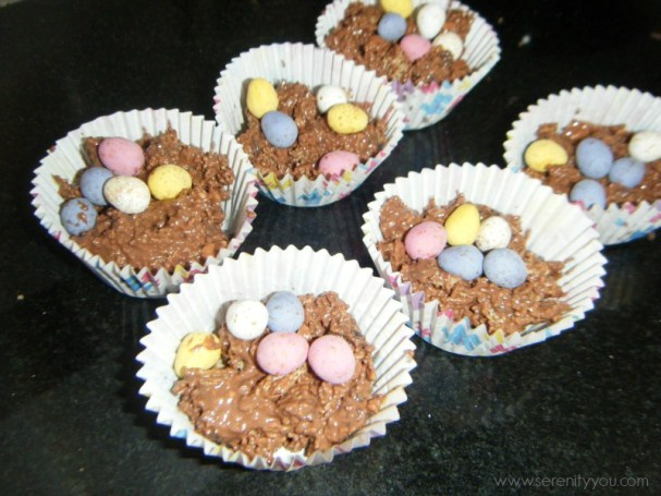 easter chocolate egg nests recipe for kids